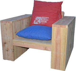 Steigerhouten Loungestoel Deluxe