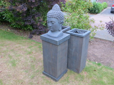 Zuil van steigerhout (zonder boeddha)