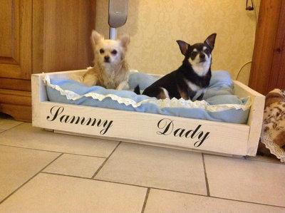 Steigerhouten hondenmand Basis